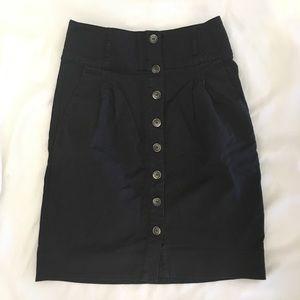 Zara basic button front pencil skirt